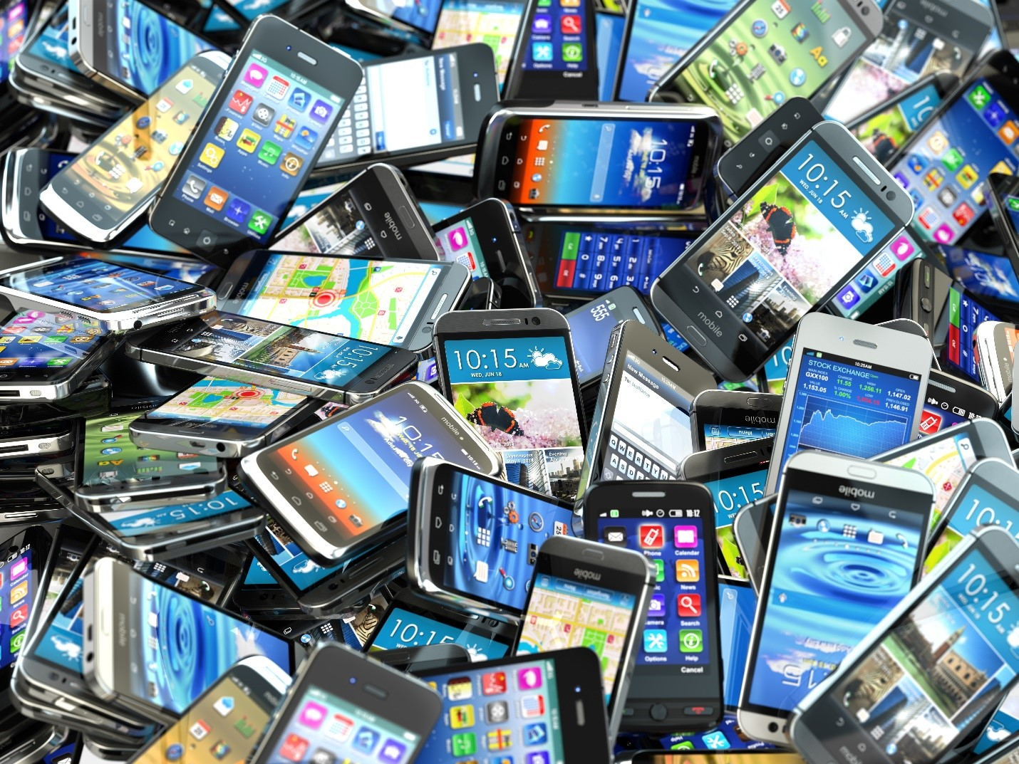 Used-smartphones-and-recycling
