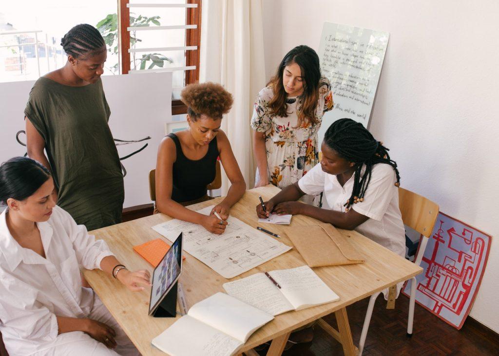 group of motivated entrepreneurs